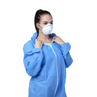 Disposable Anti Static Dustproof Panting Spraying Nonwoven Overall Safety Chemical Resistant Clothing