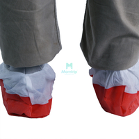 Non-Skid Anti Slip Custom Polypropylene Non Woven Blue Disposable Shoe Covers Boot Cover
