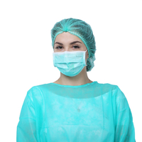 Green Earloop Pleated 3 Ply Non Woven Anti Pollen Dust Droplets Bacterial Germ Virus Hygienic Sanitary Procedure Medical Custom Disposable Face Mask