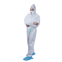 White Panting Spraying Full Body Nonwoven Overall Safety Disposable Work Wear Anti Static Hazmat Suit Clothing