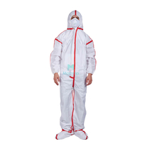 Anti Static Dustproof Panting Spraying Full Body Nonwoven Overall Liquid Resistant Disposable Safety Clothing with Taped Seams