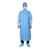 Isolation Insulation Non Woven SMS Sterilized Laminated Impervous Disposable Surgeon Gown with Knitted Cuffs