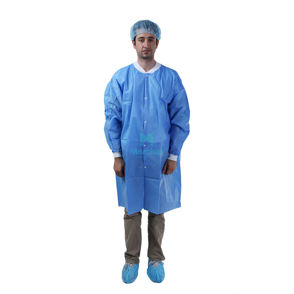 Morntrip Non Woven Medical Lightweight Level 2 Disposable Custom Lab Coat