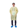 Morntrip Non Woven Breathable High Quality Disposable Long Sleeve Blue Lab Coat