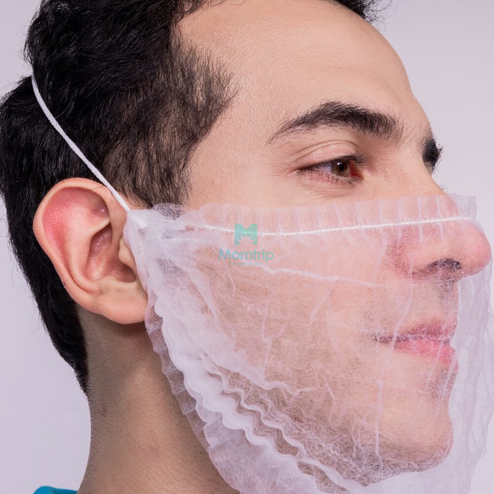 Wholesale Non Woven Disposable Comfortable Beard Cover