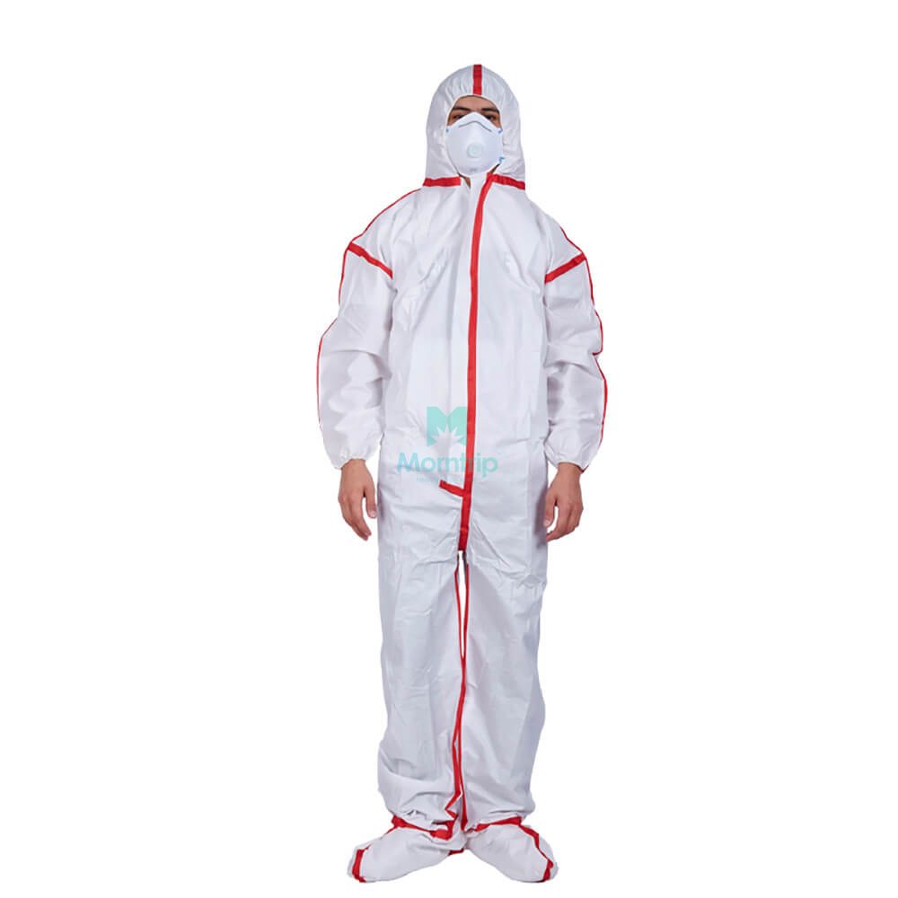 Microporous Breathable Disposable Non woven Coveralls with Taped Seams
