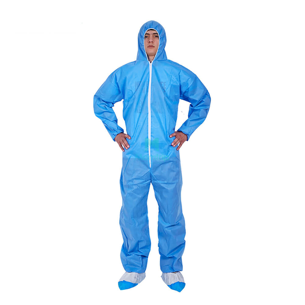 Jumpsuit Laminated Lightweight Non Woven Isolation Protective Coverall