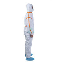 Disposable Anti Static Dustproof Panting Spraying Chemical Protective Clothing Coverall for Industry Food