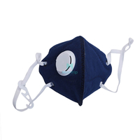 Blue Non woven Disposable Vertical Fold Respirator