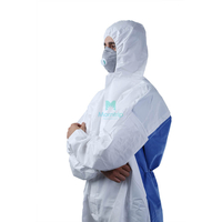 Microporous Combined with SMS Breathable Type 5 6 Dustproof Work Wear Protective Clothing Coverall