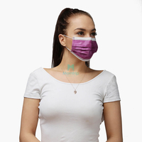 Morntrip 3 Ply Flat Adjustable Pleated Thick Protective Disposable Face Mask