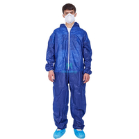 Type 5 6 Ce Certificated Splashproof Overall Suit Breathable PP Disposable Protective Clothing