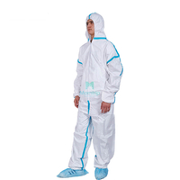 Microporous Hooded Painting Spraying Full Body Breathable Sterile Dustproof Safety Coverall