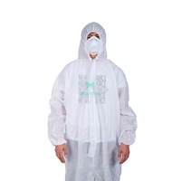 Disposable Ce Certificated Splashproof Overall Suit Breathable PP Nonwoven Protective Clothing