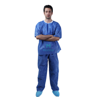 Uniform Non Woven Disposable Nursing Cloth Scrub Suit Set