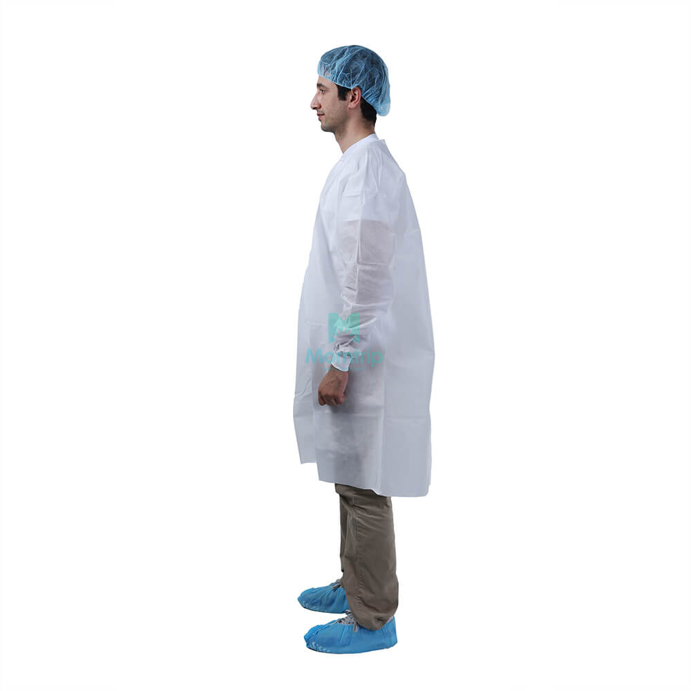 Morntrip Science Level 2 Waterproof Disposable Long Sleeve Chemistry Lab Coat