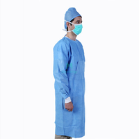 Morntrip Insulation Non Woven Waterproof Protective Breathable Disposable Long Sleeve Isolation Gowns