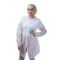 Morntrip Non Woven Waterproof Breathable Disposable Chemistry Lab Coat with Velcro Closure