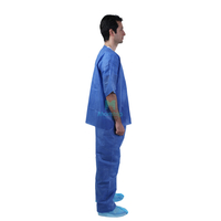 Hospital Uniform Doctors Disposable Comfortable Medical Surgical Scrub Suit Sets