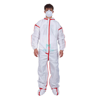 Hooded with Boots Full Body Protective Liquid Resistant Disposable Safety Clothing with Taped Seams