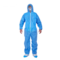 Insulation Non Woven Chemical Protective Clothing Type 5 6 Full Body Work Suits Disposable Coveralls Hazmat Suits